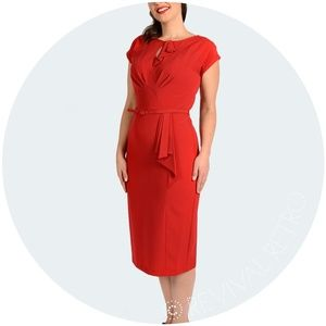 Stop Staring Red TIMELESS RETRO DRESS  Pinup 50's
